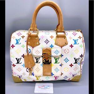 Louis Vuitton Speedy 30 Multicolore Bag
